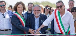 Antonello Colonna taglio del nastro inaugurazione via Labicana